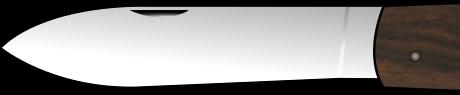 onglet de couteau pour droitier