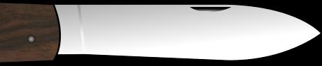 onglet de couteau pour gaucher