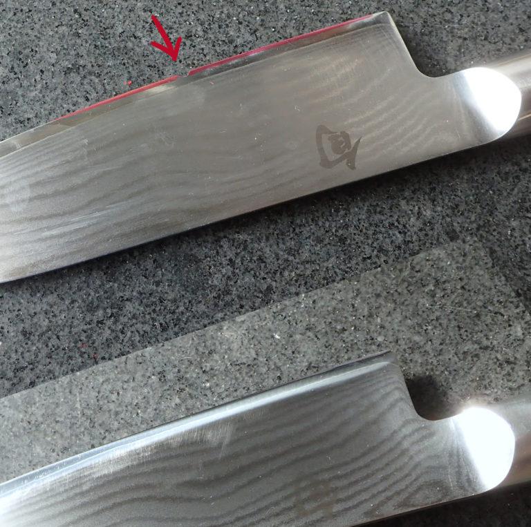 réparation de fil de couteau de chef