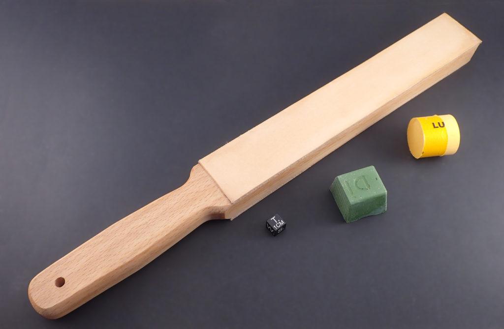 strop paddle raquette affûtage cuir