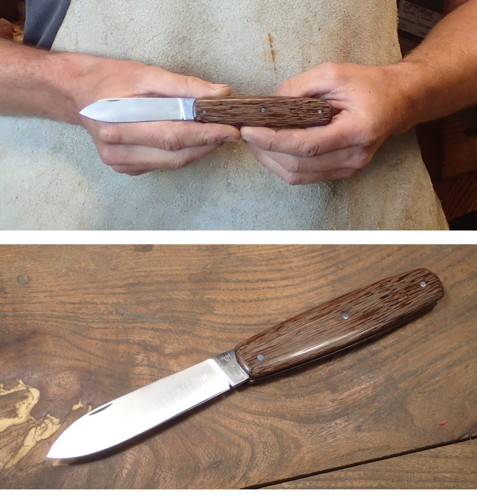 stage de coutellerie fabrication couteau pliant