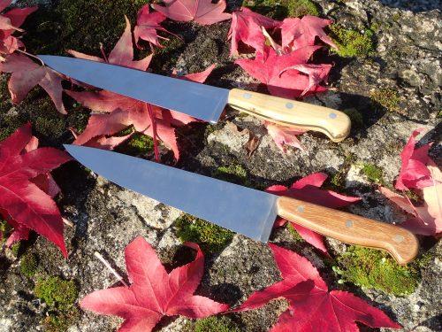 couteaux de chef 20 cm, lame en acier carbone et en inox